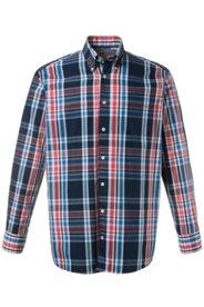 Ulla Popken Karo-Hemd, Buttondown-Kragen, Brusttasche, Manschetten innen aus Oxford-Web, Comfort Fit, große Größen - Große Größen