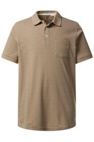 Ulla Popken Poloshirt, Piqué-Jersey, zweifarbig melierte Qualität, Jersey, Große Größen - Große Größen
