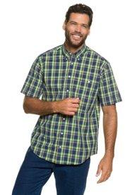 Halbarm-Hemd, kariert, Buttondown-Kragen, Brust-Pocket, Modern Fit, große Größen - Große Sale Angebote Döbern