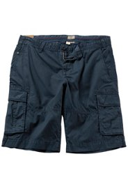 Ulla Popken Cargo-Bermuda, kurze Hose, gemustert, 6 Pockets, Bund innen bedruckt, große Größen - Große Größen