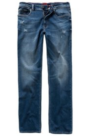 Ulla Popken Superstretch-Jeans, Denim, Wasch-Effekte, 5-Pocket, JP1880-Innenbund, Straight Fit, große Größen - Große Größen