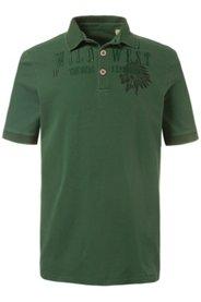 Ulla Popken Poloshirt, Piqué-Jersey, Stickerei, Halbarm, Rücken länger, große Größen - Große Größen