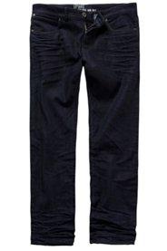 Ulla Popken Jeans, Raw Denim, super bequem, 5-Pocket-Form, Falten-Details, Loose Fit, Stretch, große Größen - Große Größen