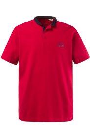 Ulla Popken Poloshirt, Jersey mit Feinstruktur, Stehkragen, Halbarm, große Größen - Große Größen