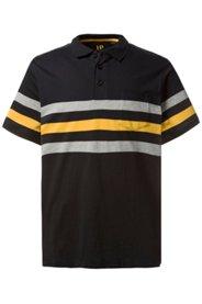 Ulla Popken Poloshirt, Streifen, Seitenschlitze, Jersey, große Größen - Große Größen
