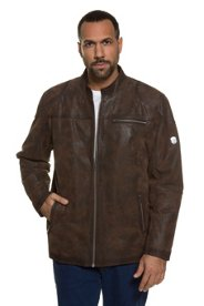 Lederjacke, echtes Leder, Biker-Jacke, Used-Effekt, Metall-Reißverschluss, Steppfutter, große Größen - Große Sale Angebote Ruhland