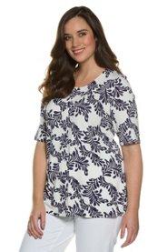 Ulla Popken Shirt, florales Muster, Classic, Selection - Große Größen