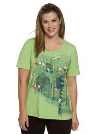 Ulla Popken T-Shirt, Motiv Venedig, Classic, Ziernieten, Stretchkomfort - Große Größen