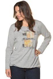 Shirt, Stickerei, Druck, elastischer Saum - Große Größen Sale Angebote Ruhland