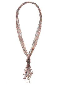 Perlenkette, Zierknoten, feinen Perlenreihen, ohne Verschluss - Große Größen