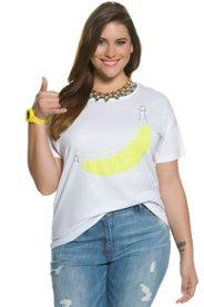 T-Shirt, Bananenmotiv, Regular, Druck/Stickerei - Große Größen Sale Angebote Kathlow