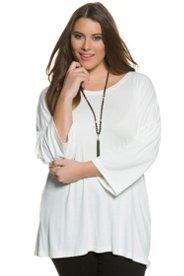 Shirt, Volantärmel, elastisch gerafft, breite Schultern - Große Größen