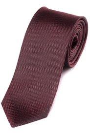 Ulla Popken Seiden-Krawatte, kleines Muster, Normallänge, Breite ca. 7,5 cm - Große Größen