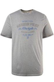 Ulla Popken T-Shirt, oil dyed, HARBOR PILOT, Ha...
