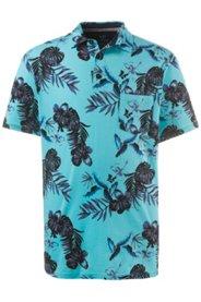 Ulla Popken Poloshirt, Halbarm, Blütenmuster, Jersey - Große Größen