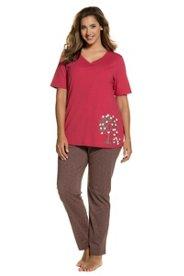 Neiße-Malxetal Angebote Pyjama, Herzbaum-Motiv, reine Baumwolle, bis Gr. 66/68 - Große Größen