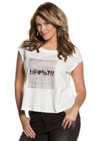 T-Shirt, Computer-Look, Used-Optik, Ärmel mit Umschlag - Große Größen Sale Angebote Hornow-Wadelsdorf