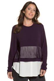 Sweatshirt, Mesheinsatz, 2-in-1-Look, Blusensaum - Große Größen Sale Angebote Ruhland