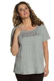 Neu-Seeland Angebote T-Shirt, BREATHE-Schriftzug, Classic, Biobaumwolle - Große Größen