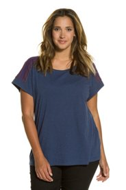 Griesen Angebote T-Shirt, bestickte Schultern, Oversized, Flammjersey - Große Größen