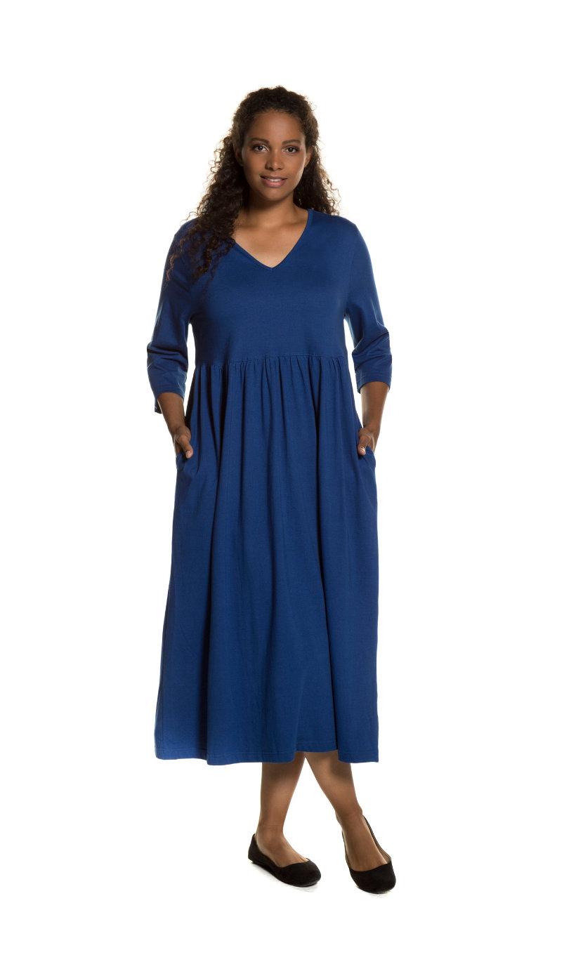 Ulla Popken jurk - grote maten blauw