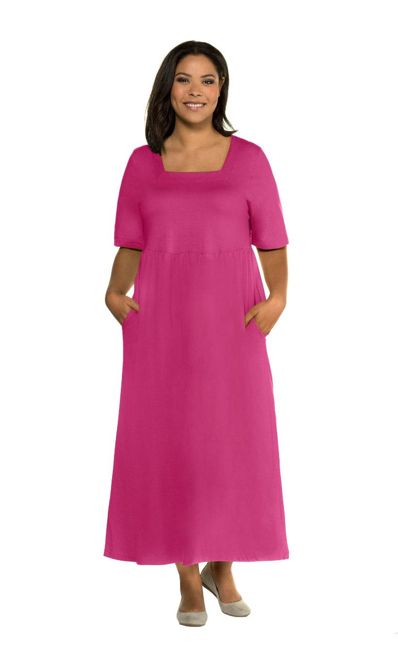 Ulla Popken jurk - grote maten magenta