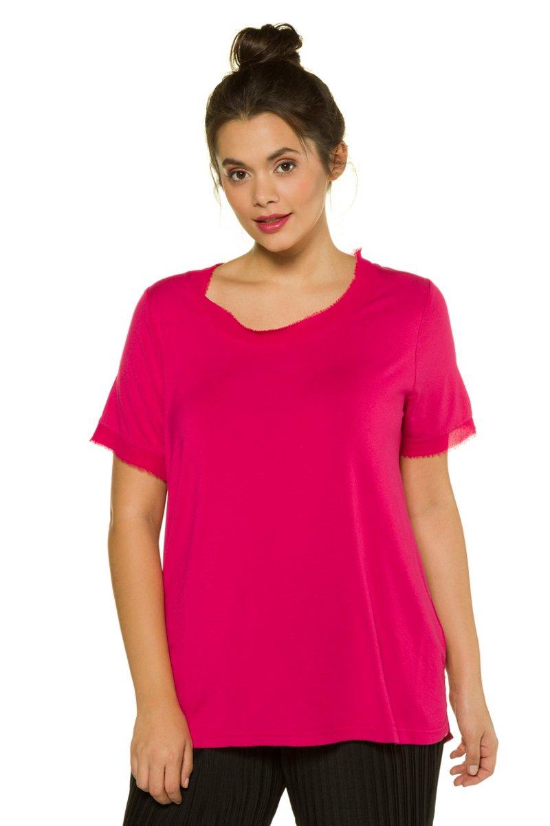Shirt, Chiffon-Details, Web-Rücken, Halbarm, Studio Untold - Große Größen