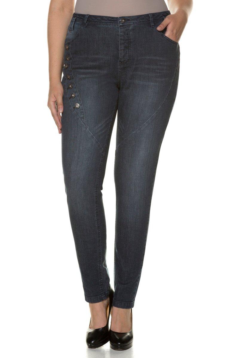 Curvy-Jeans, cold dyed, Ziernähte - Große Größen jetztbilligerkaufen