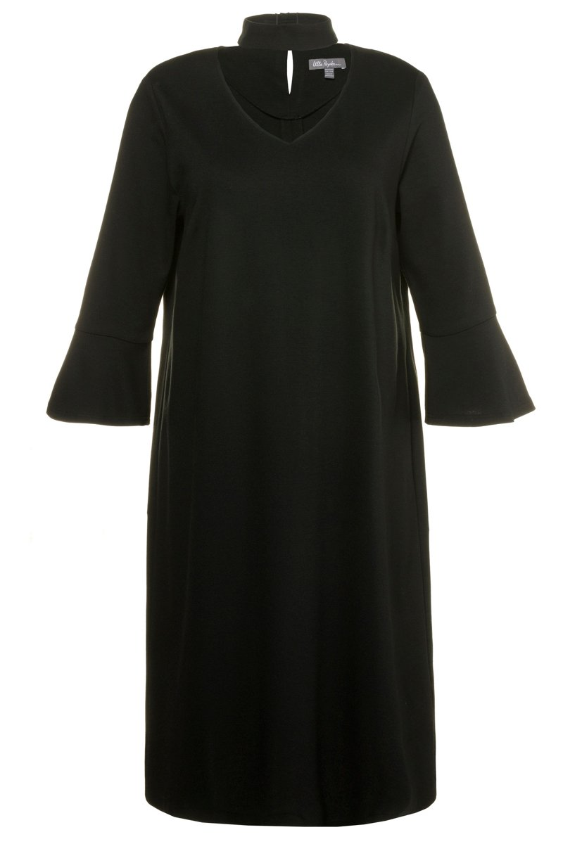 Kleid mit Choker - Große Größen - broschei
