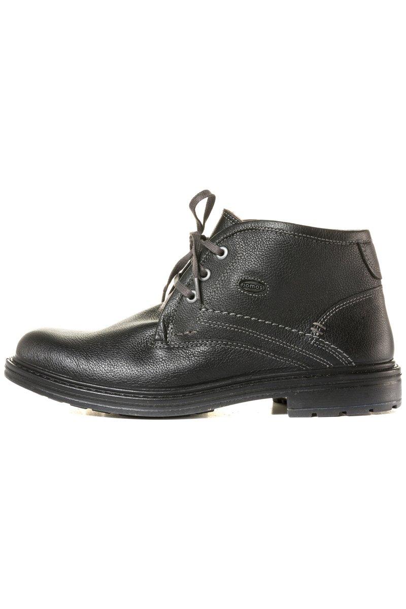 Herren-Boots, echtes Leder, Lammfell-Futter, Profilsohle - Große Größen - broschei