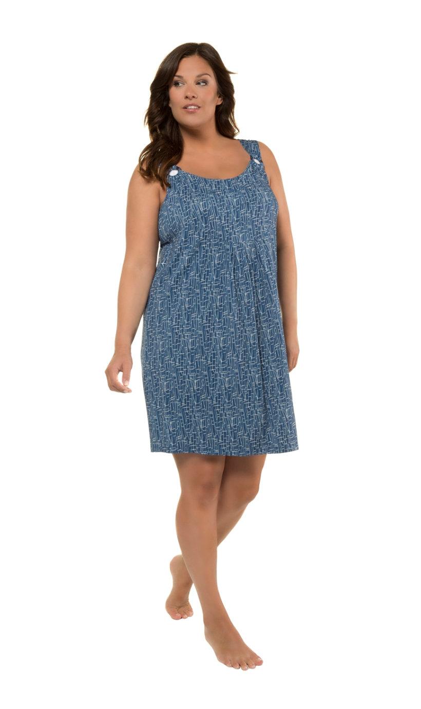 Ulla Popken jersey-jurk - grote maten donkerblauw