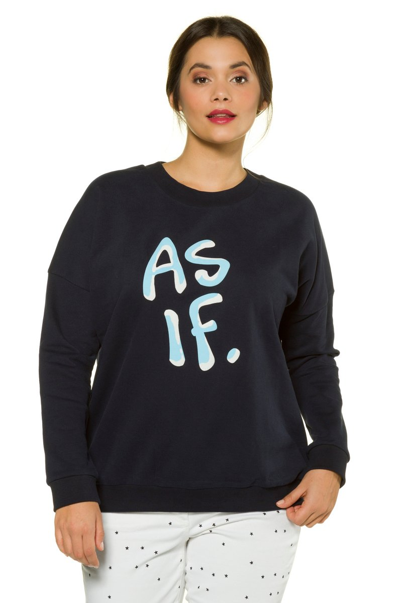 Sweatshirt, oversized, Rubberprint, Langarm, Studio Untold - Große Größen jetztbilligerkaufen