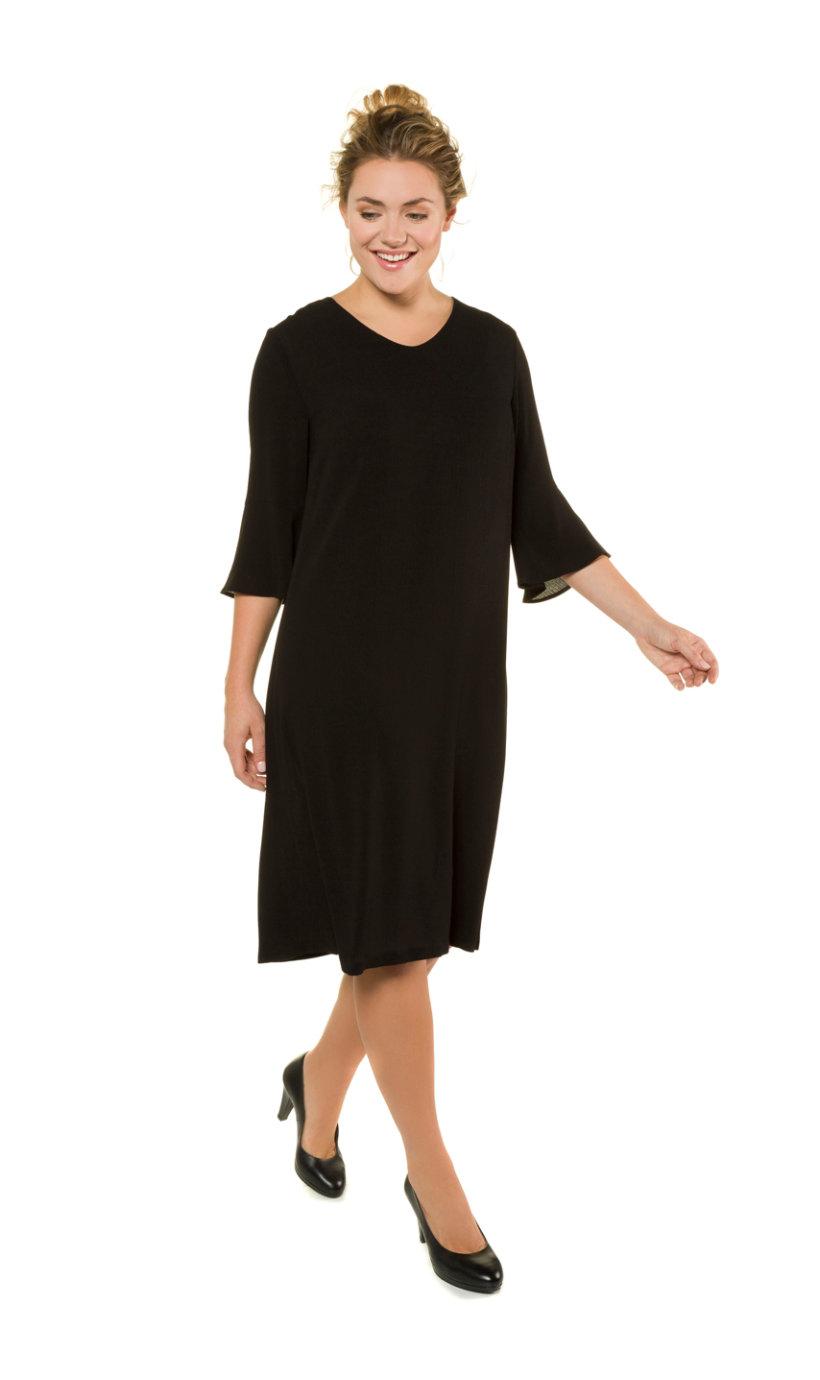 Ulla Popken jurk - grote maten zwart