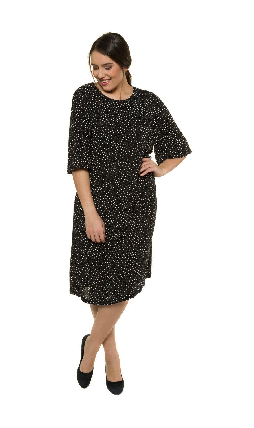 Ulla Popken jurk - grote maten zwart-wit