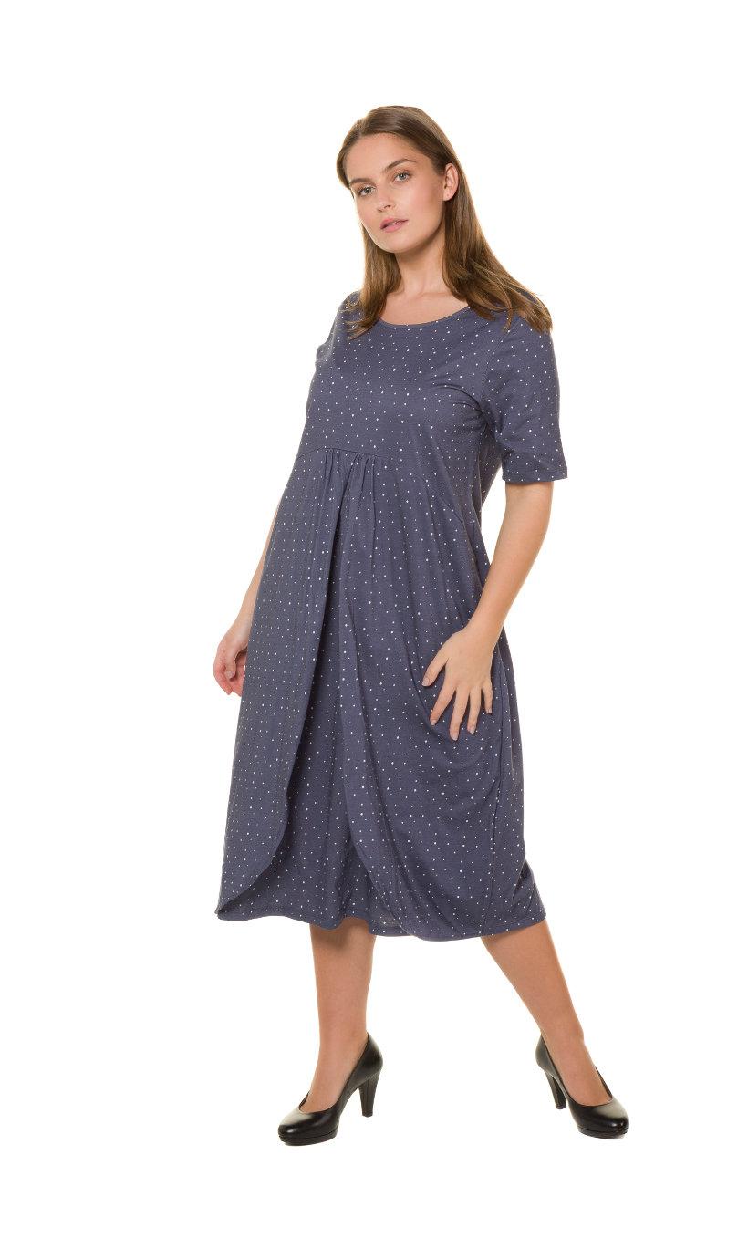 Ulla Popken jersey-jurk - grote maten leiblauw