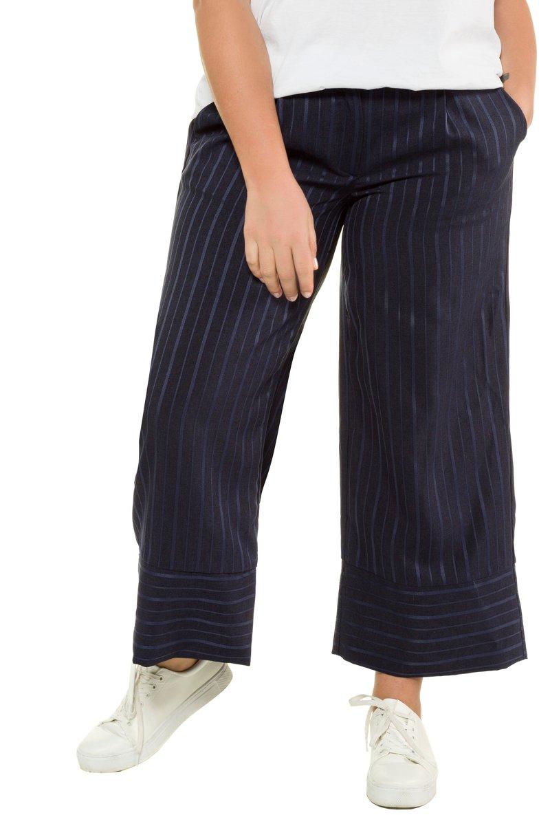 Hose, Culotte, weite 7/8-Länge, Streifen, - Große Größen jetztbilligerkaufen