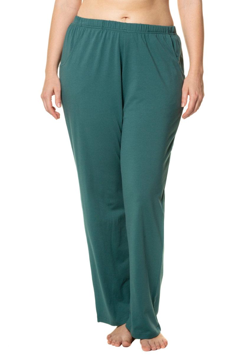 Pantalon, bootcut, jersey, ceinture élastiquée, poches - Grande Taille