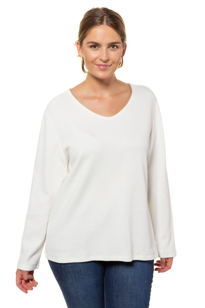 Sweat-shirt texturé - Grande Taille