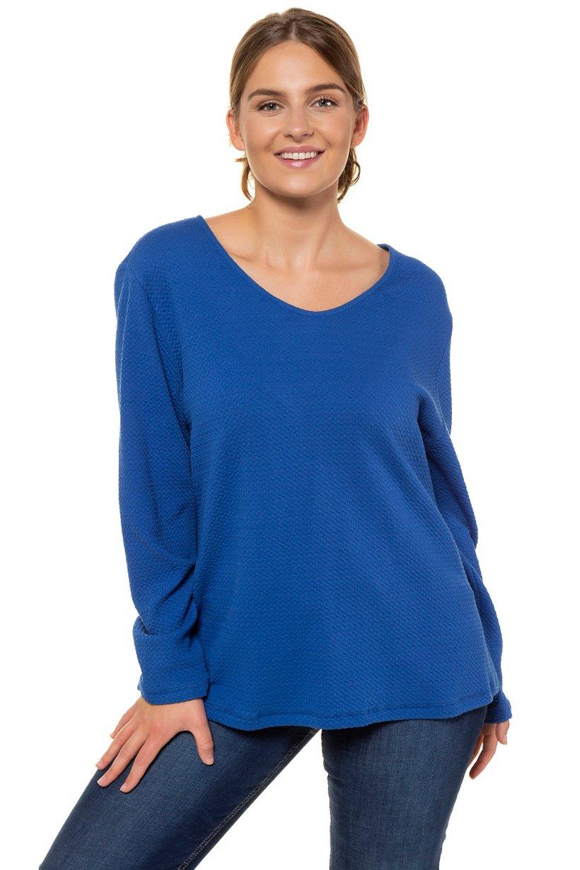 Sweat-shirt texturé - Grande Taille