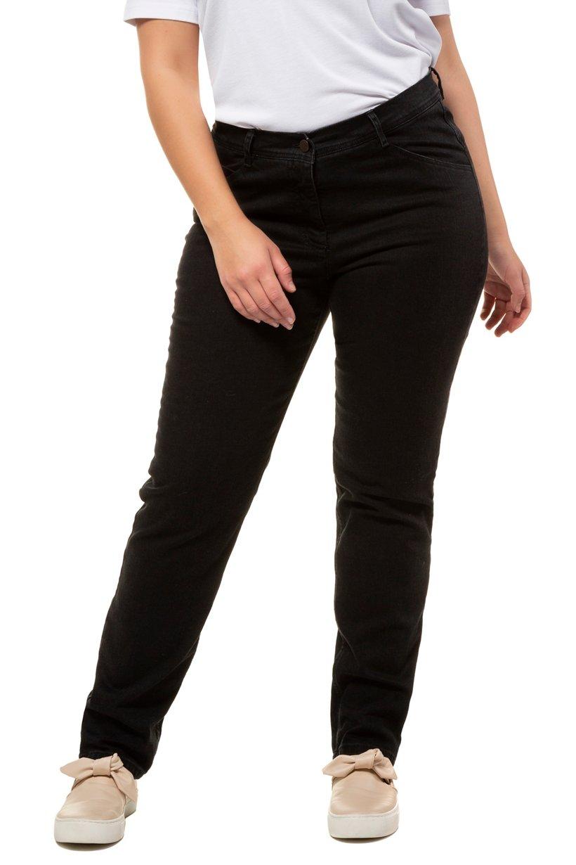 Ulla Popken Jeans, gerades Bein, Stretch, 5-Pocket, PURE - Große Größen