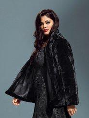 Ulla Popken Elegant Faux Fur Lined Jacket
