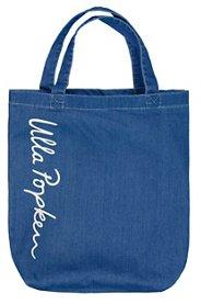 Ulla Popken Shopper, Tasche aus Denim mit Logo-...