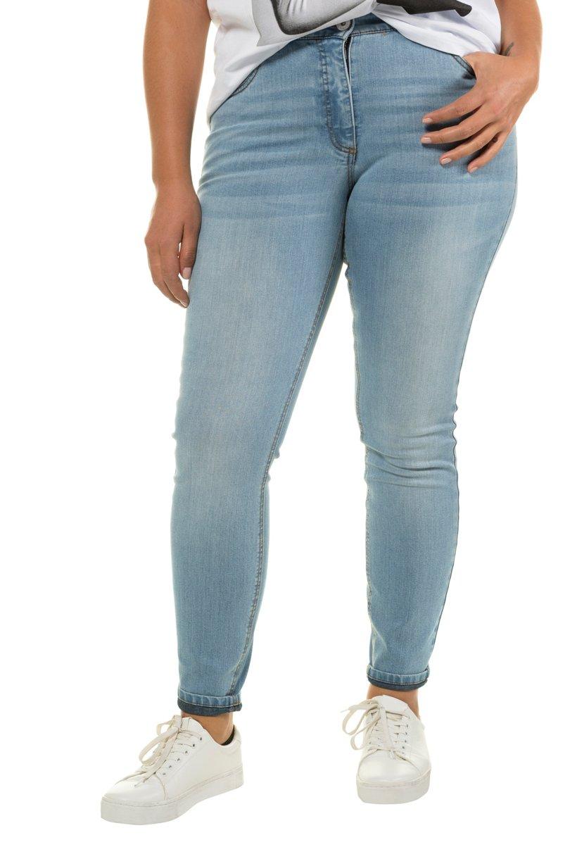 Ulla Popken Skinny, Basic-Jeans, schmale 5-Pocket - Große Größen