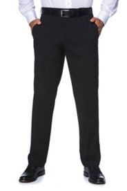 Pants, Non-Crease, Straight Cut, Stretch Wool
