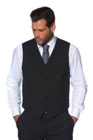 Vest, Width Adjustable, 2 Welt Pockets, 5 Buttons, Stretch Wool