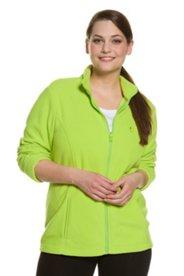 Fleece Princess Seam Pocket Zip Front L/S Jacket
