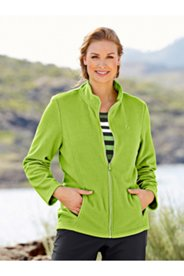Fleece Princess Seam Pocket Zip Front L/S Jacket