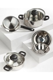 M & K Stainless Steel Cookware Set, 7 piece