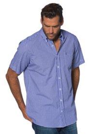 Hemd, Halbarm, Vichy-Karo, Comfort Fit, Buttondown-Kragen, bügelleicht